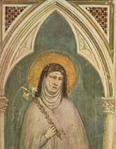 Claire of Assisi by Giotto 116X212