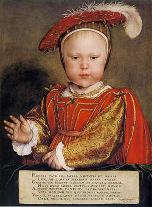 Prince Edward by Hans Holbein.