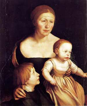 Hans Holbein the artists family.