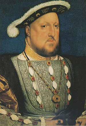 Portrait of Henry VIII by Hans Holbein.