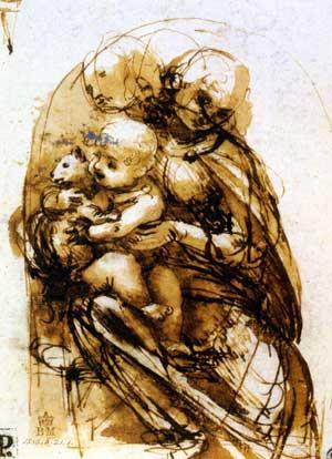 Madonna Child and Cat, Leonardo da Vinci