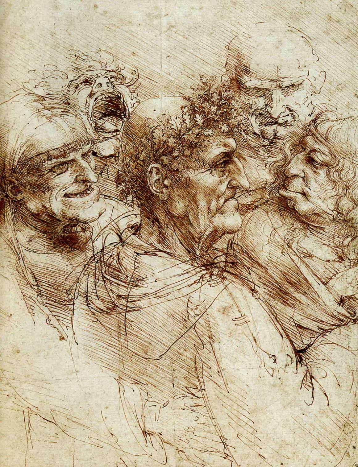 Leonardo da Vinci, Grotesque Heads.