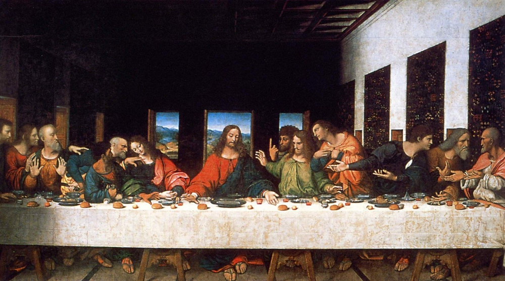 16th century copy of Leonardo's Last Supper.