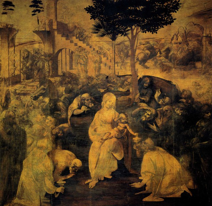 Adoration of the Kings by Leonardo da Vinci
