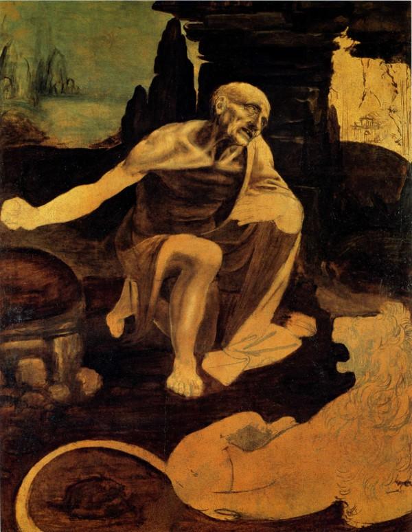 St Jerome by Leonardo da Vinci