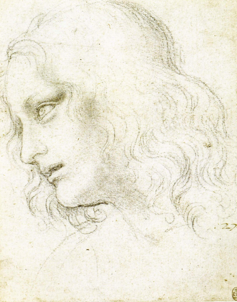Study for St Philip by Leonardo da Vinci