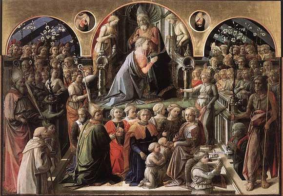 The Coronation of the Virgin by Fra Filippo Lippi