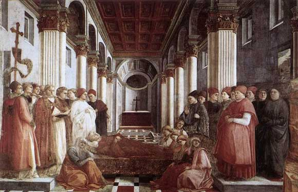 Stories from St Stephen by Fra Filippo Lippi