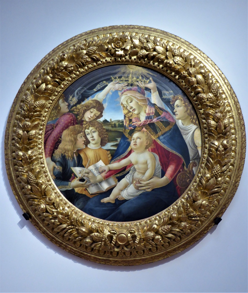 Madonna of the Magnificent, Sandro Botticelli, Uffizi Gallery, Florence, Italy