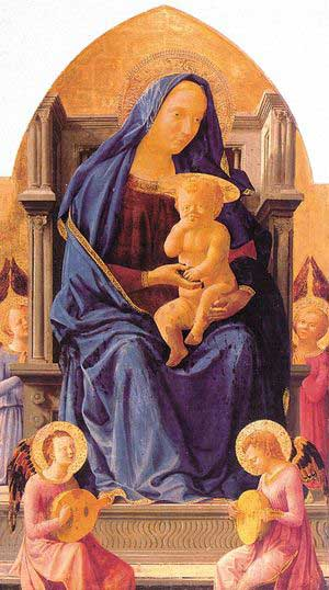 300 x 538 Mother and Child with Angels, Masaccio