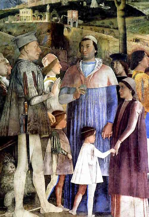 Ludovico Gonzaga and Cardinal Francsco, by Andrea Mantegna.