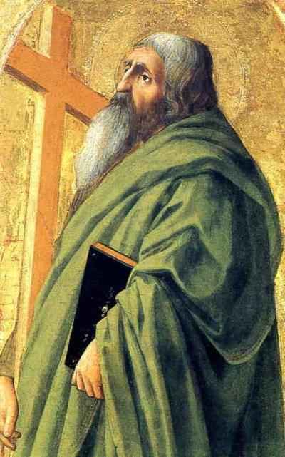 St Andrew by Masaccio, tempera on wood, 52.3 x 32cm, J. Paul Getty Museum, Malibu.