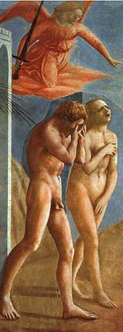156 x 420 The Expulsion of Adam and Eve, Masaccio