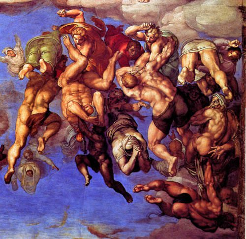 The Damned cast into Hell, Michelangelo