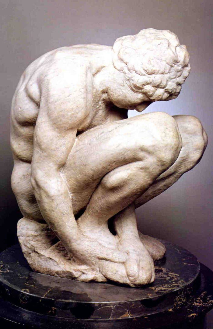 Michelangelo's statue the Crouching Boy.