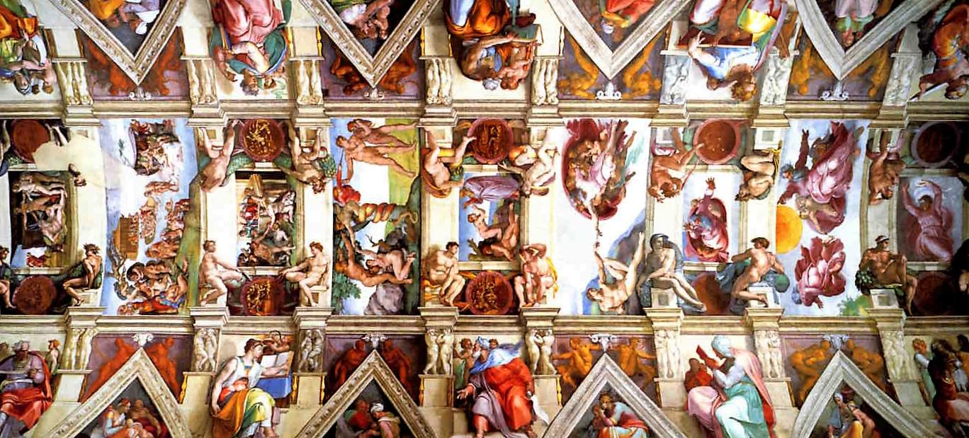 The Sistine Chapel ceiling by Michelangelo.