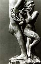 Bacchus (detail) Michelangelo