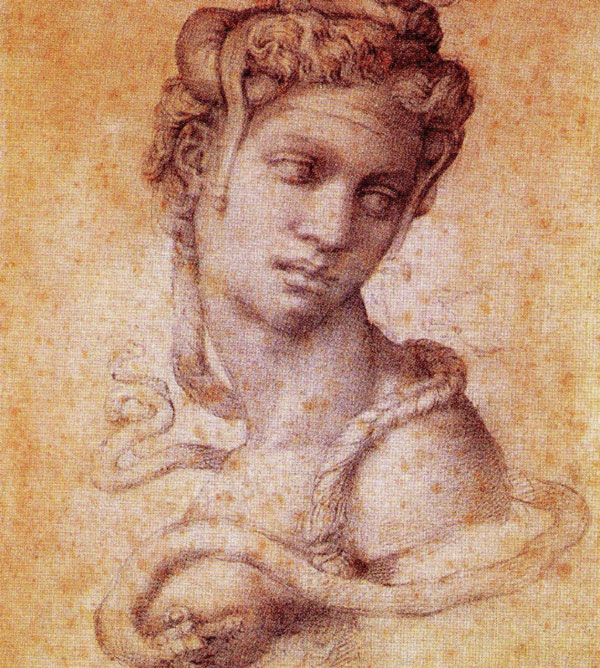Head of Cleopatara by Michelangelo