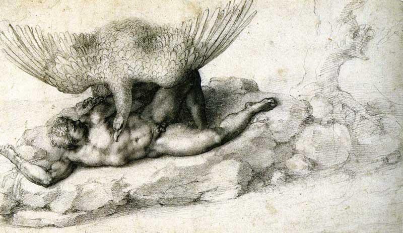 PunishmenTityus by Michelangelo