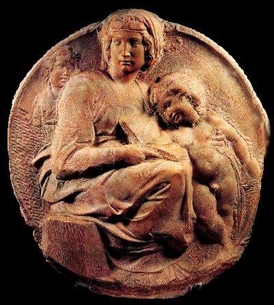 Tondo Pitti, a circular marble relief by Michelangelo