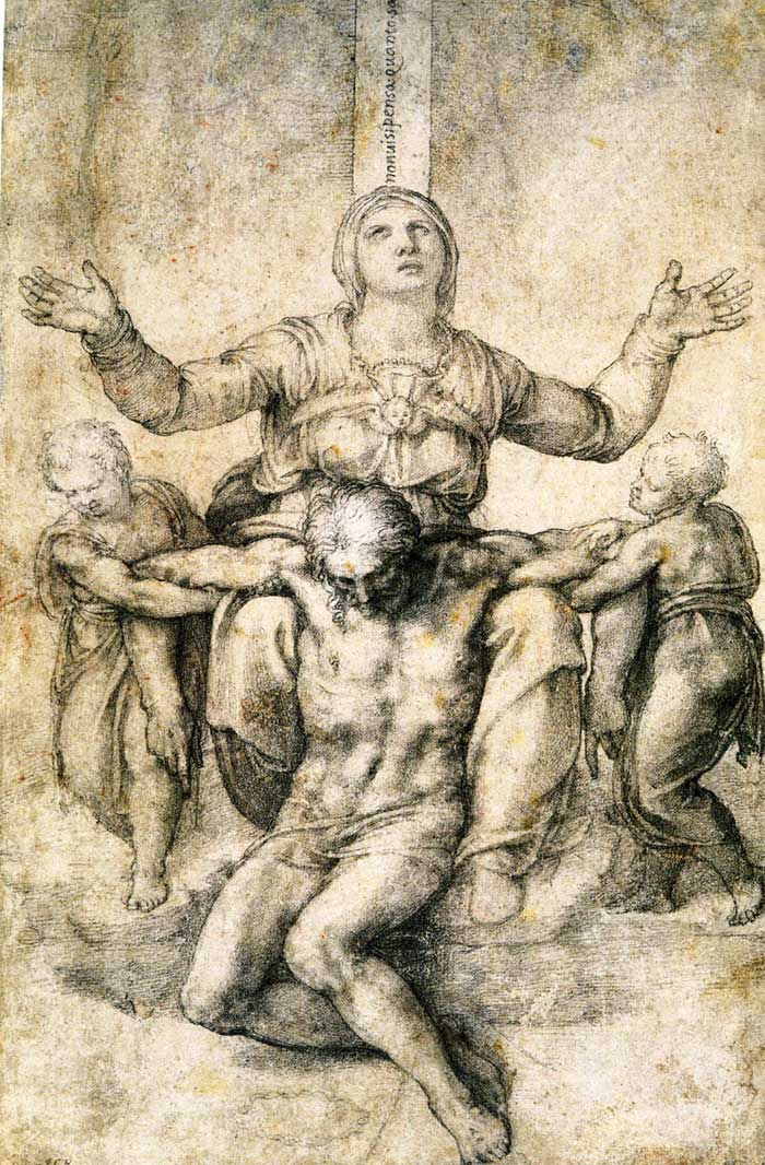 Michelangelo's study for a Pieta