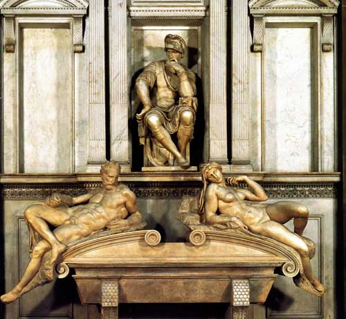 Tomb of Lorenzo by Michelangelo