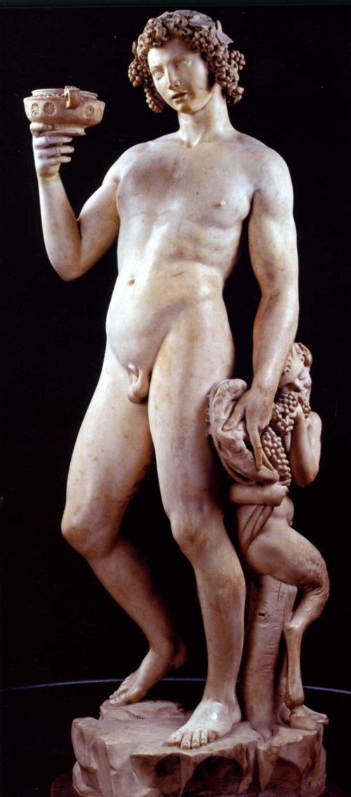 Bacchus by Michelangelo. 1496-1497