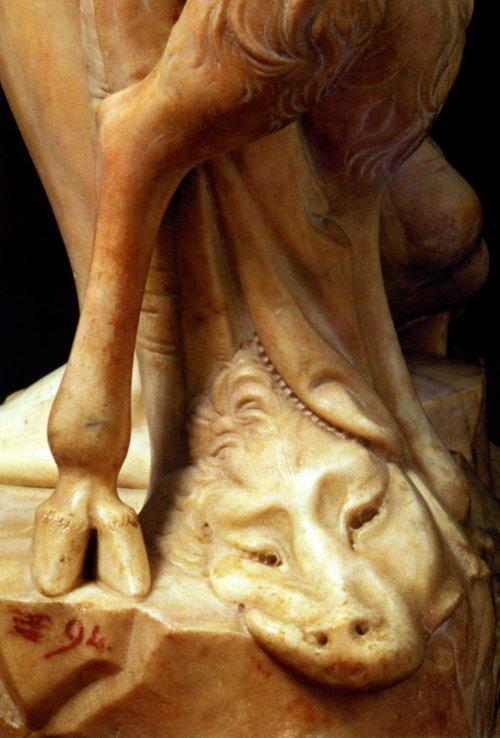 Michelangelo's Bacchus (detail) 1496-1497.