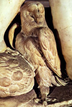 Owl from the tomb of Giuliano de' Medici by Michelangelo