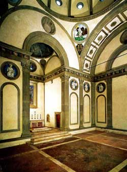 Pazzi Chapel interior, Brunelleschi