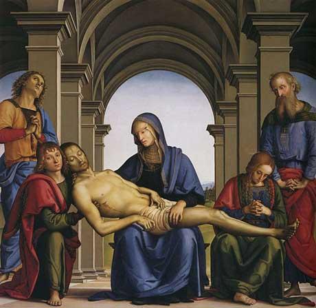 Pieta by Perugino