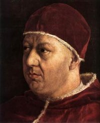 Pope Leo X by Raphael (detail)