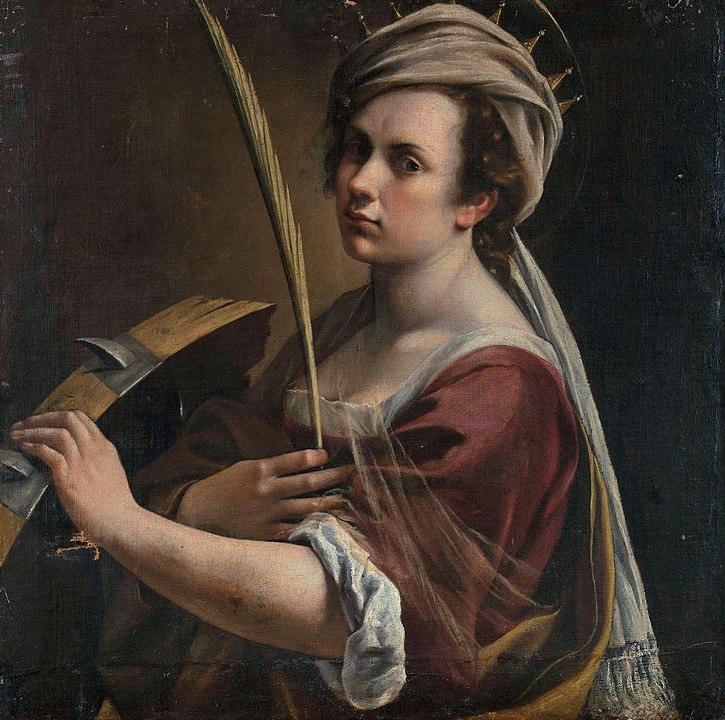 Artemisia Gentileschi, Self-Portrait as Saint Catherine of Alexandria.
