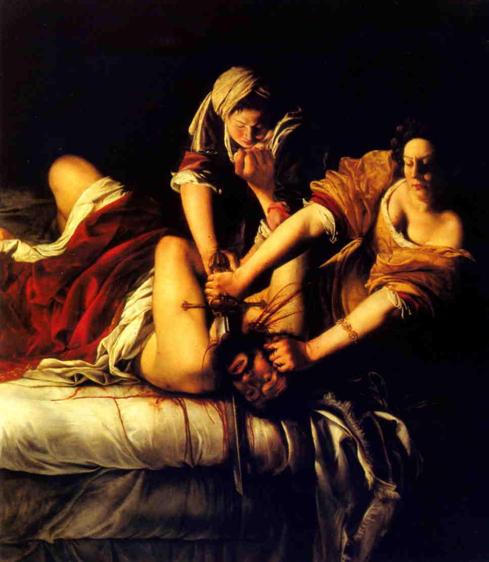 Artemisia Gentileschi, Judith Slaying Holofernes.