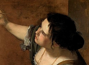 Gentileschi self-portrait
