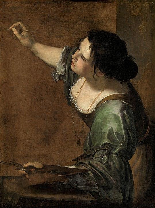 Artemisia Gentileschi, Self-Portrait as the Allegory of Painting.