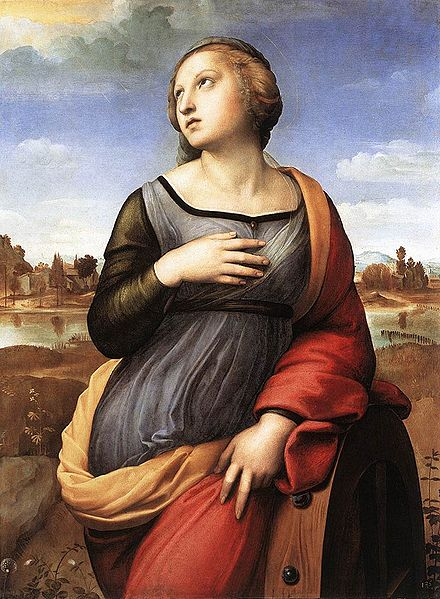 St Catherine of Alexandria by Raphael.