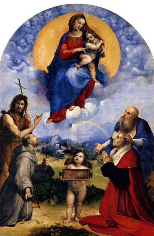 Madonna di Foligno, Raphael.