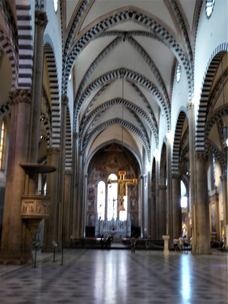 The interior of the Santa Maria Novella Church, Florence, Italy.