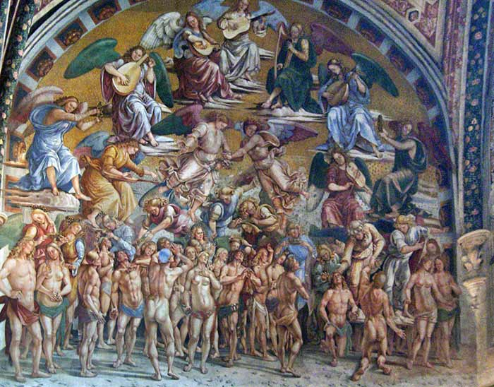 The Elect in Paradise by Luca Signorelli