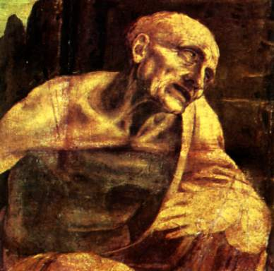 St Jerome (detail) Leonardo da Vinci