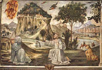 The Stigmata of St Francis by Ghirlandaio