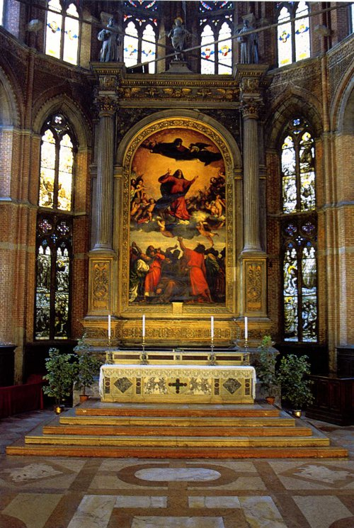 The High Altar of the Frari featuring Titian's Assumption