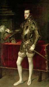 Philip II of Spain by Titian.