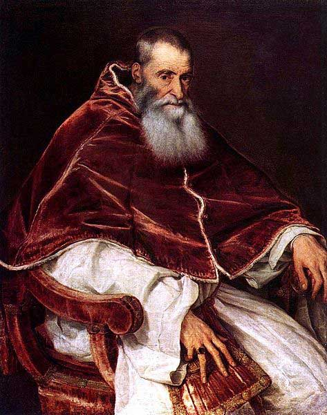 Pope Paul III by Titian.
