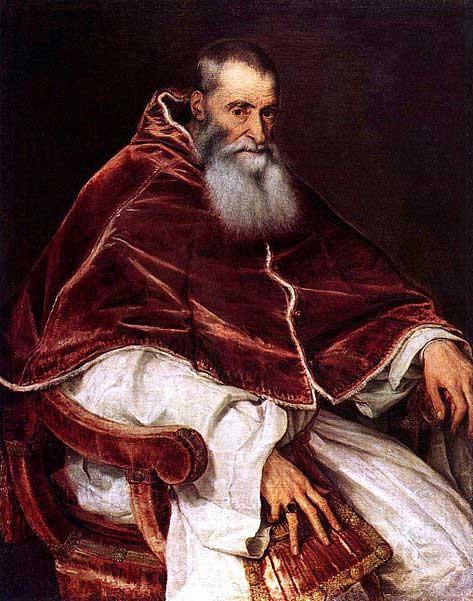 Pope Paul III by Titian.
