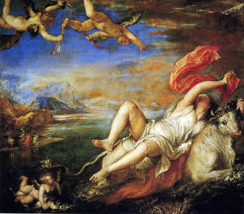 Titian's Rape of Europa.