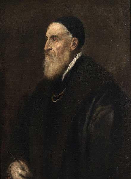 Titian, self portrait as an old man.