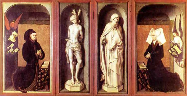 Rogier van der Weyden,s Beaune Altarpiece, wings folded.