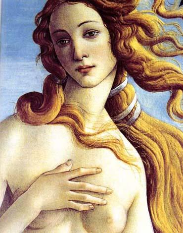 Venus (detail) Sandro Botticelli